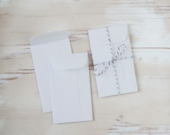 Light Gray Mini Envelopes - 25 pc