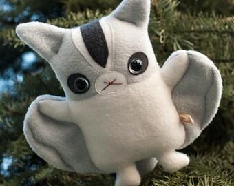 Sugar Glider plush doll, Cute stuffed animal soft toy, Kawaii plushie flying squirrel, Handmade animal lover gift, boy girl teen Flat Bonnie