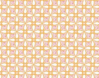 SALE - Bella Petals Orange - Cotton Print Fabric from Blend Fabrics
