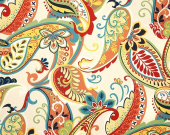 "Curtain Panels Paisley Multi Color Curtain Panels Pair 50"" Wide by 63"",84"",90"",96"",108"""