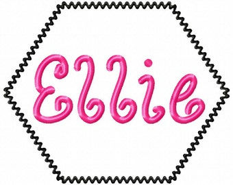 """Ellie - LILLI PAD EXCLUSIVE -  Machine Embroidery Font - Sizes 1"""",2"""",3"""", 4"""" Buy 2 get 1 Free"""