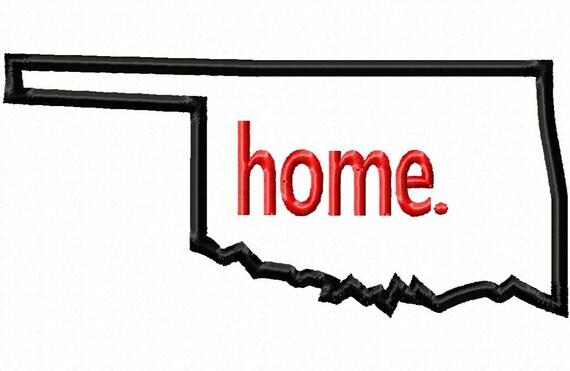 Oklahoma home applique machine embroidery design 13 for Oklahoma home designers