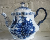 Vintage Teapot - Blue and White Floral