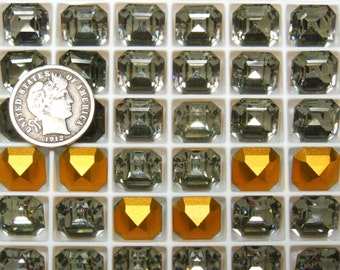 Swarovski 4671 Black Diamond 10mm  Vintage Crystal Stone