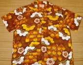 Mens Vintage 60s Sears Mod Hawaiian Aloha Shirt - XL -  The Hana Shirt Co