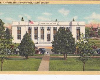 Salem, Oregon, United States Post Office - Vintage Postcard - Postcard - Unused (H)