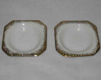 "Neat Pair Vintage 3"" RICHARD Japan White Butter Pats"
