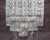 Favors, Wedding favor bags, A set of 20 token bags