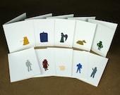 Doctor Who Letterpress Cards - Set of 10