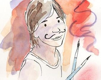 Custom portrait from photo. Custom watercolor portrait. Custom portrait illustration. Custom portrait painting. Custom painting watercolor