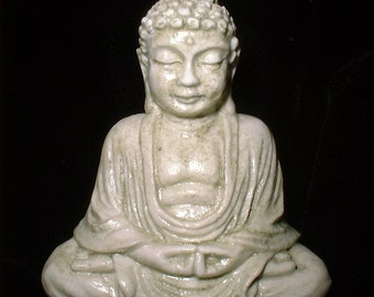 Tiny Pocket Buddha for Travel and Gifting in Faux Ivory Finish
