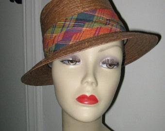 SCALA MENS' STRAW Hat, Mens' Summer Panama Style, Genuine Coconut