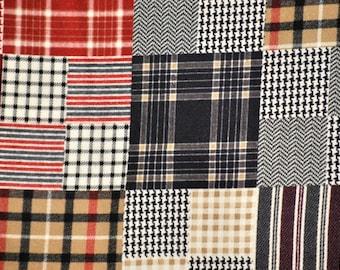 Patchwork Plaid Flannel, 1 yard