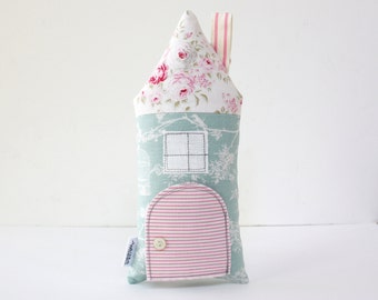 Tooth Fairy Pillow, Toy House, Girls, Children' Gift, Keepsake, Special Occasion