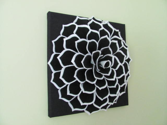 Felt Flowers Wall Decor : Felt flower wall art pattern sophia fabric
