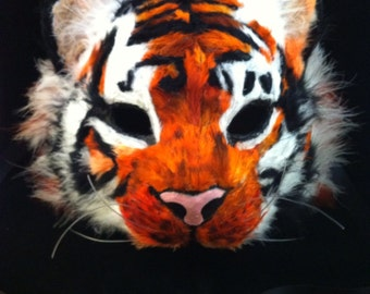 Tiger - Feathered Specialty Custom Animal Masks