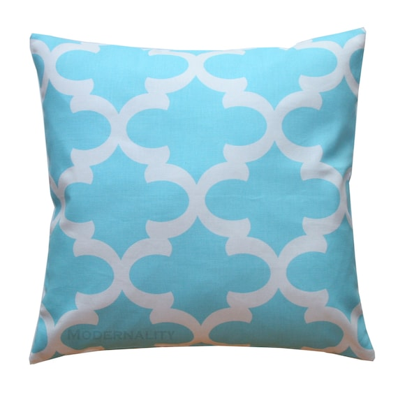 Sky Blue Decorative Pillows : Accent Pillows Regatta Sky Blue Fynn Pillow Cover by Modernality2