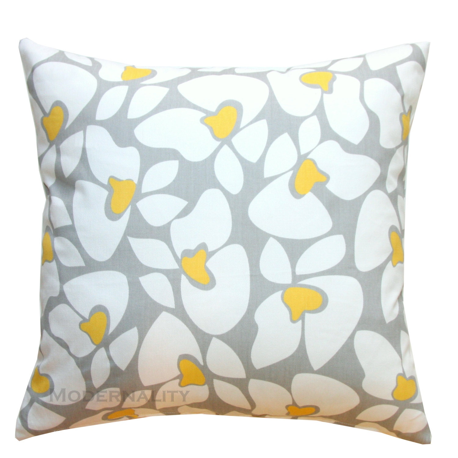 Etsy Yellow Throw Pillow : Throw Pillows Grey and Yellow Pillow Cover Helen Pillow