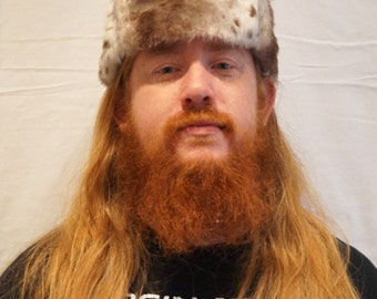 Mens Russian Hat 19th Century Faux Fur Trapper Hat. Ushanka Hat
