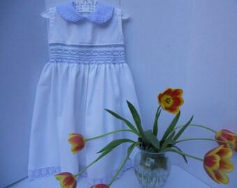 White Pique Sleeveless Dress