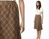 Plaid tartan brown skirt size XS
