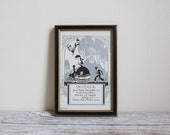 Vintage Victorian Print // Silhouette Print // Crinoline Lady // Mother's Day Gift // Victorian Decor