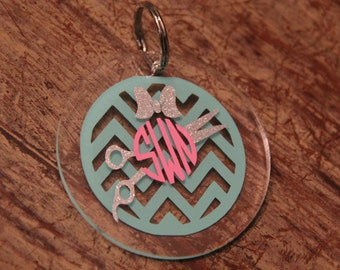 Hairdresser Monogrammed Keychain.. customize your own