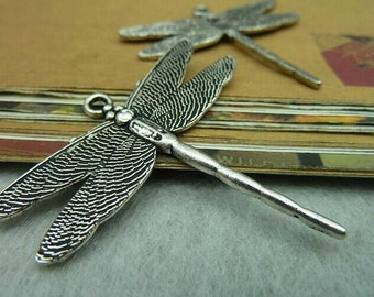 10pcs 43x46mm The Dragonfly  Silver Color Retro Pendant Charm For Jewelry /Pendants C5550
