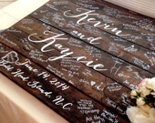 Reclaimed Wood Guestbook Sign, Personalized Custom Wood Sign for Weddings