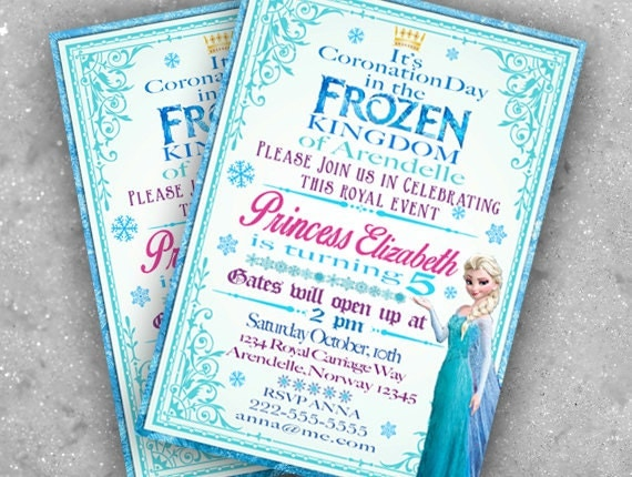 Frozen Birthday Invitation Wording correctly perfect ideas for your invitation layout