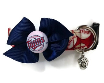 Minnesota Twins Baseball Dog Collar