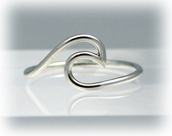 Wave ring, silver wave ring, statement rings, ocean, beach, eco friendly, women, sterling silver ring, bridesmaid gift