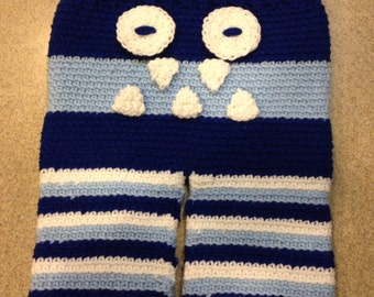 Crochet Baby Monster Pants 0 - 12 Months