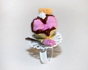 Ice Cream Ring - Food Ring - Food Jewelry