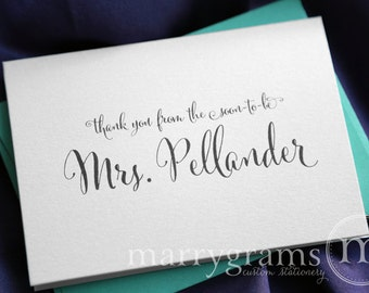Thank You From the Soon to Be Mrs. Cards Bridal Shower, Engagement, Wedding Thank You Notes- Fun, Flirty Script- Bachelorette (10ct) CS07