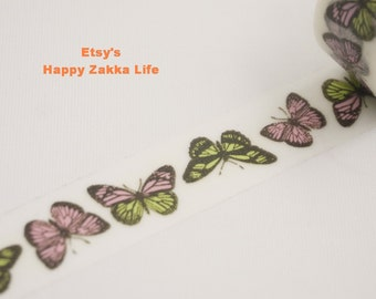 Japanese Washi Masking Tape - Beautiful Butterfly - 8.7 yards