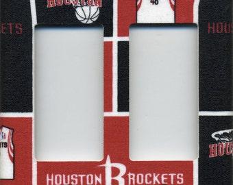 Houston Rockets Double Decora Light Switch Plate