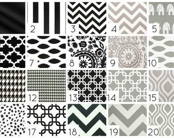 Black and Gray Curtain Panels. 50 X 63  Inches. Drapes. Window Treatments. Chevron, Chain Link, Suzani, ikat, Stripes, Dots