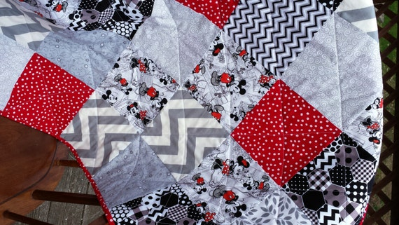 Mickey Mouse Baby Quilt Ready To Ship