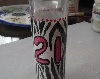 """Zebra """"21"""" shot glass"""