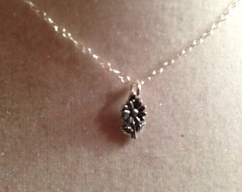 Flower Girl Necklace - Wedding Jewellery - Sterling Silver Jewelry - Pendant - Children - Chain