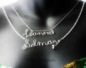 Handwritten One Name -Customizable / Personalized Wire Necklace