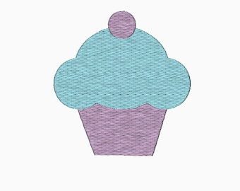 Cupcake embroidery design in multi-sizes INSTANT DOWNLOAD machine embroidery