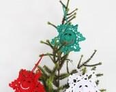 Happy Snowflake Crochet Pattern, Christmas Ornament PDF, Children's Room Décor