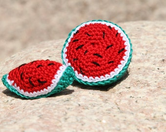 Easy Pattern Crocheted watermelon Toy Play Food Pattern, Hand Knit PDF Pattern,