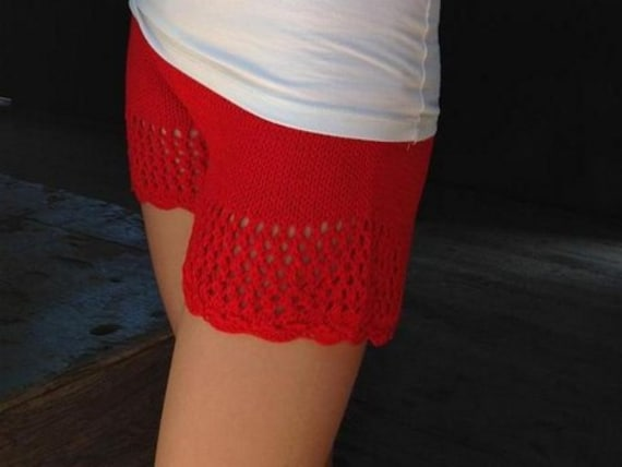 Knitted shorts Pattern Knit lace short PDF tutorial by ...