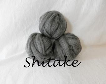 Wool roving in Shitake, 1 ounce wool roving for needle felting, wet felting, spinning, 1 oz wool roving sampler, dyed wool sampler