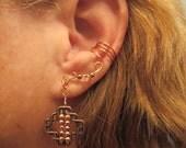 Non Pierced Ear Cuff  Celtic Square Cartilage Conch Cuff