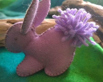 Bunny Rabbit in Lilac Felt