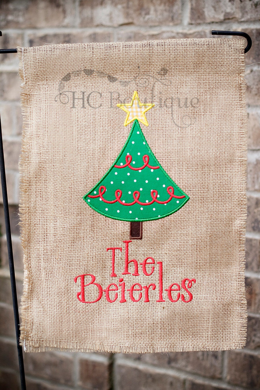 Christmas Burlap Garden Flag Personalized By Jculpepper10